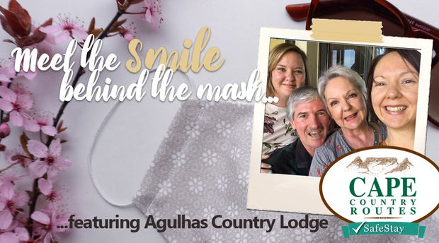 """Meet the smile behind the face mask"" featuring Cape Country Routes Member Agulhas Country Lodge, Cape Agulhas"